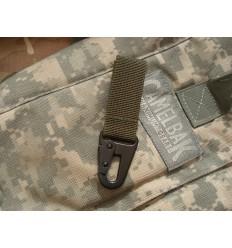 Mil-Tec - Trok z metalowym karabinkiem - 70mm - Zielony OD