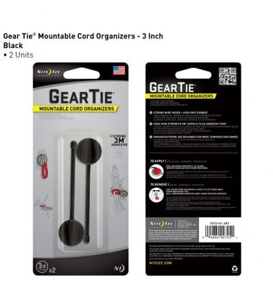 Nite Ize -  Uchwyt Gear Tie Mountables 3'' - Czarny - 2Pack - GTC3-01-2R7