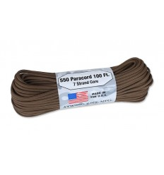 Atwood Rope MFG - Paracord MIL-SPEC 550-7 - 4 mm - Brązowy - 30,48m