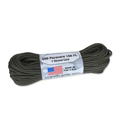Atwood Rope MFG - Paracord MIL-SPEC 550-7 - 4 mm - Olive Drab - 30,48m
