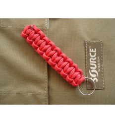 MALAMUT - Brelok surwiwalowy do kluczy Gekon - Paracord 1,4m (Made USA) - Military Red