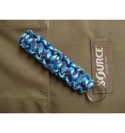 MALAMUT - Brelok surwiwalowy do kluczy Gekon - Paracord 1,4m (Made USA) - Blue Snake
