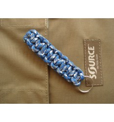 MALAMUT - Brelok surwiwalowy do kluczy Gekon - Paracord 1,4m (Made USA) - Blue Camo