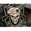 Patch - Naszywka SKULL GUN BLACK - 3D PVC - SWAT